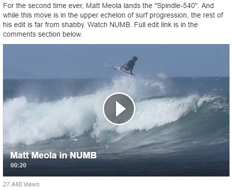 Matt Meola lands the Spindle-540