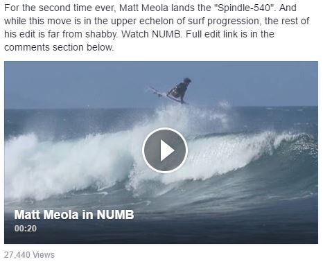 Matt Meola lands the Spindle-540