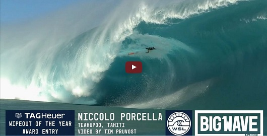 Niccolo Porcella Wipeout of the Year Teahupoo, HI