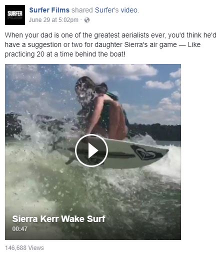 sierra kerr video of the week on CRSurf.com