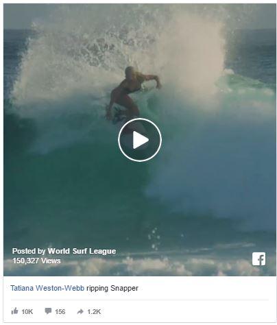 Tatiana Weston Surfing Snapper Australia