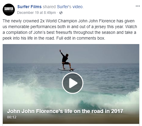 John John Florence's life on the road in 2017