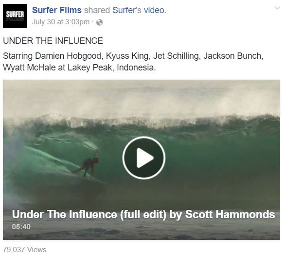 Video of the Week: Under the Influence