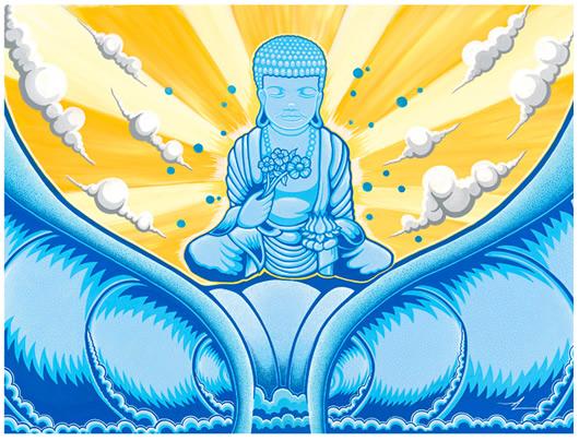 Meditation on Buddha brings big barrels.