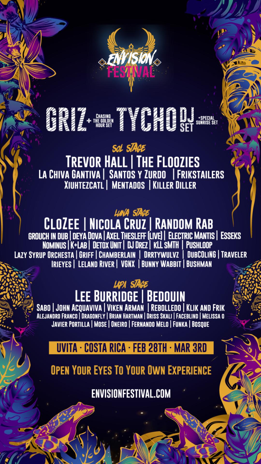 Envision Festival Music group poster