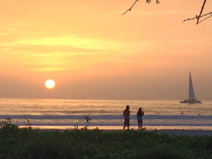 Tamarindo sunset Surf photo