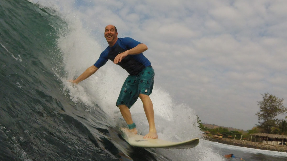 Catching waves in El Salvador