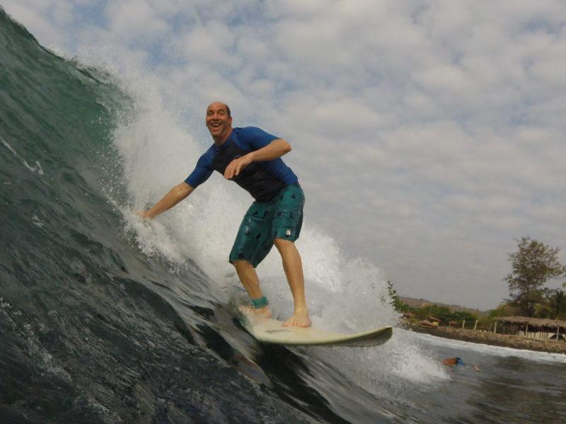 Catching waves in El Salvador