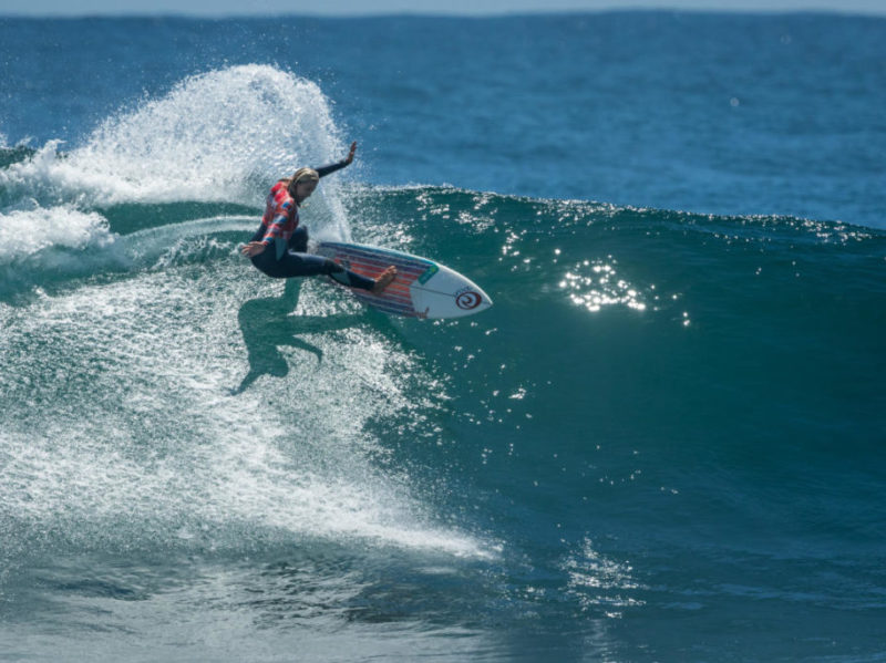 Leilani McGonagle from Pavones surfing in Chile