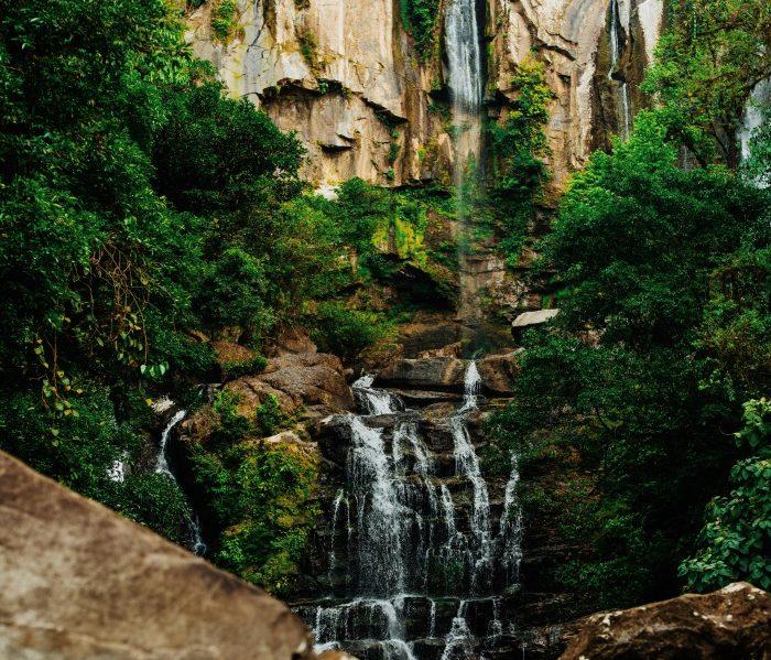 Waterfall hiking in Costa Rica