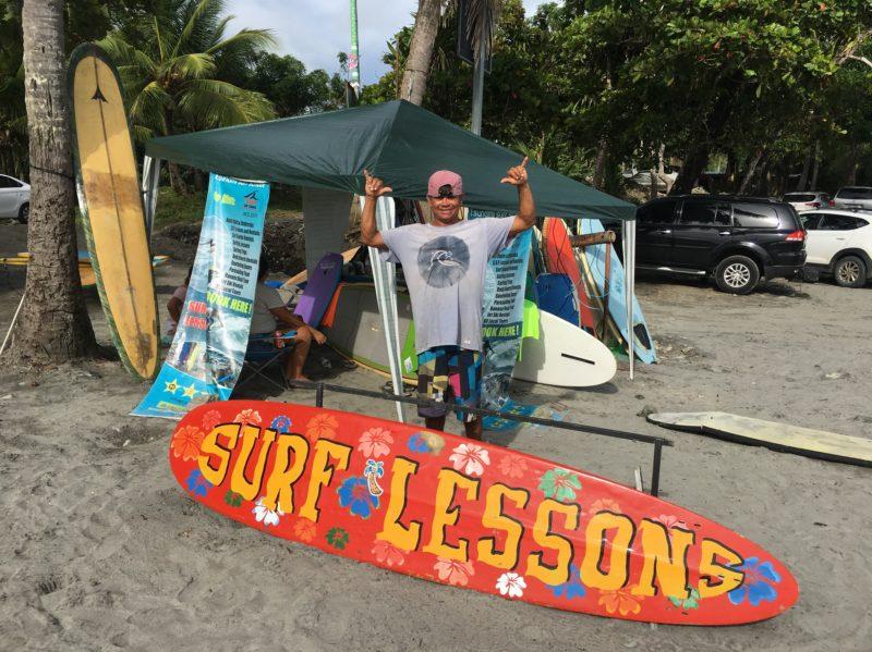 Surfboard lessons Manuel Antonio