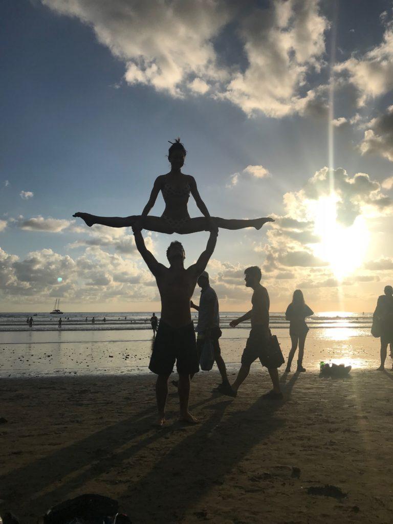 Envision Festival beach yoga
