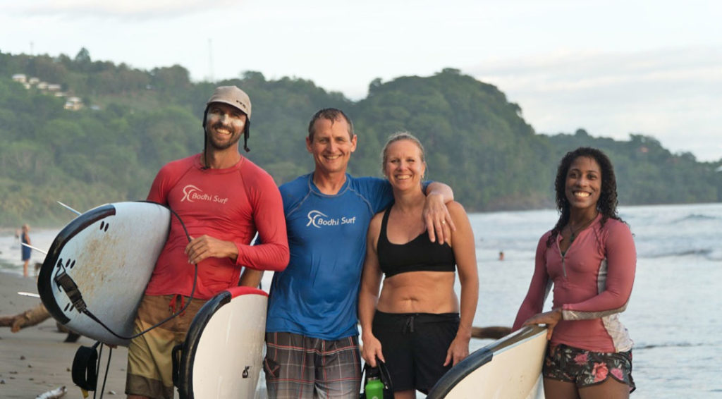 Surf community in Uvita - photo: Bodhi Surf Yoga