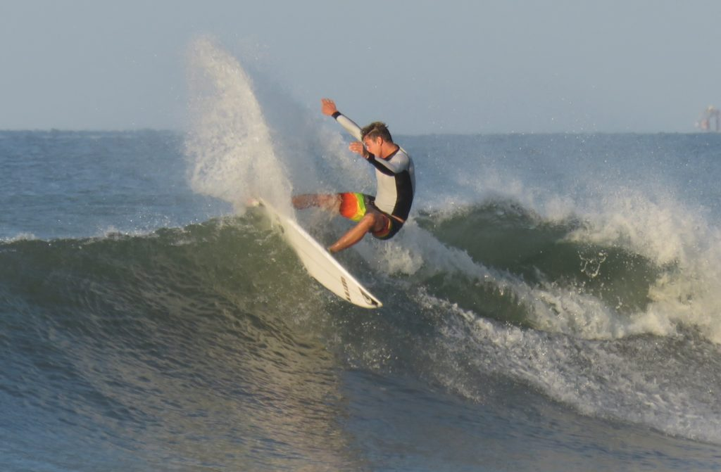 Anthony Fillingim has a smooth style and a great air game. He's ready for more international surf contests.