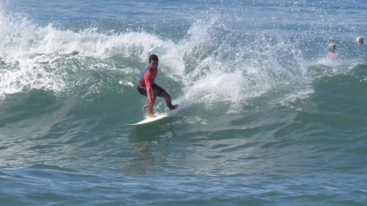 Surfing cutback point break