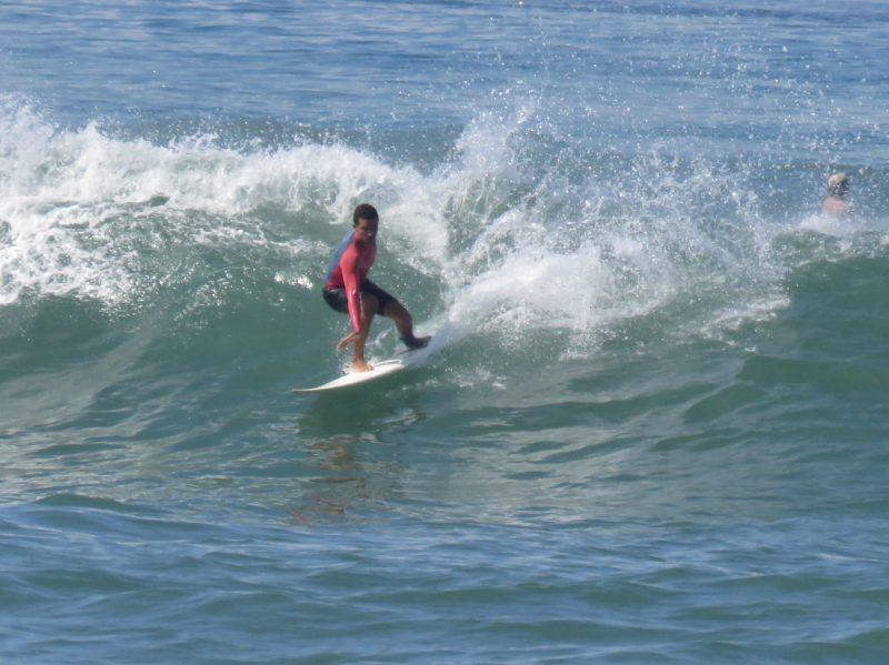 Surfing cutback point break