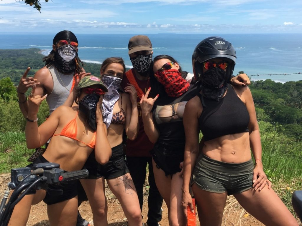 ATV tour group from south Florida in Uvita