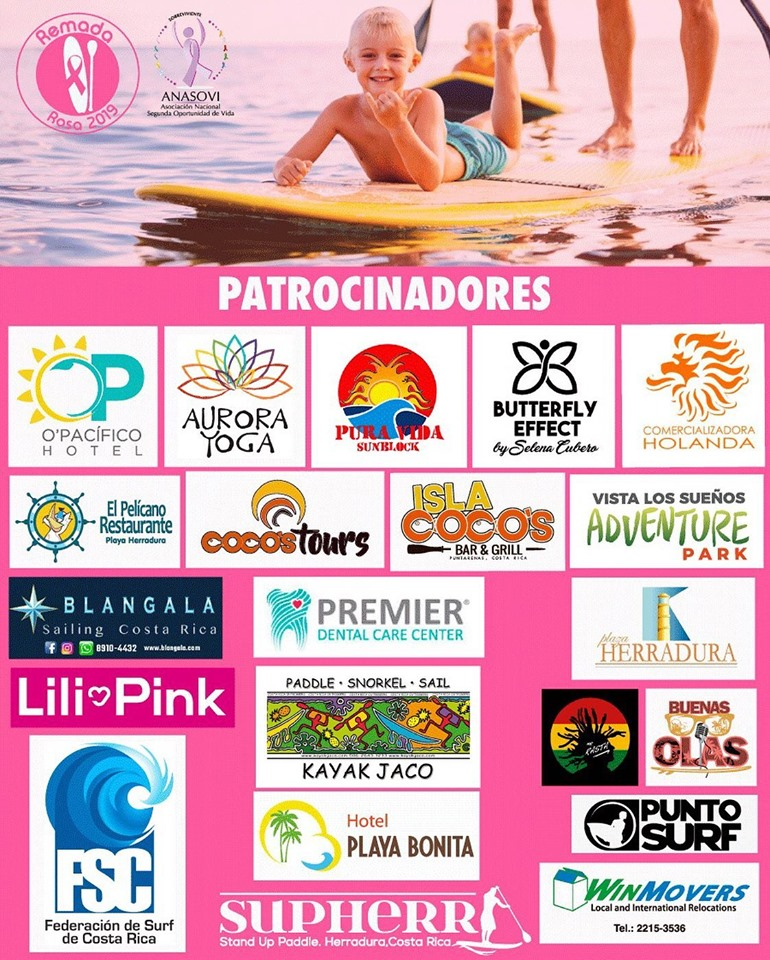 Remada Rosa - Stand Up Paddling for Cancer Awareness in Costa Rica