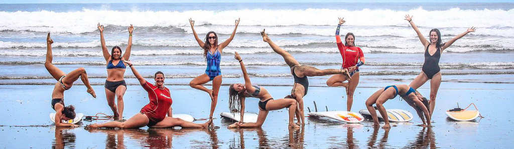Live your yoga womens surfing retreats