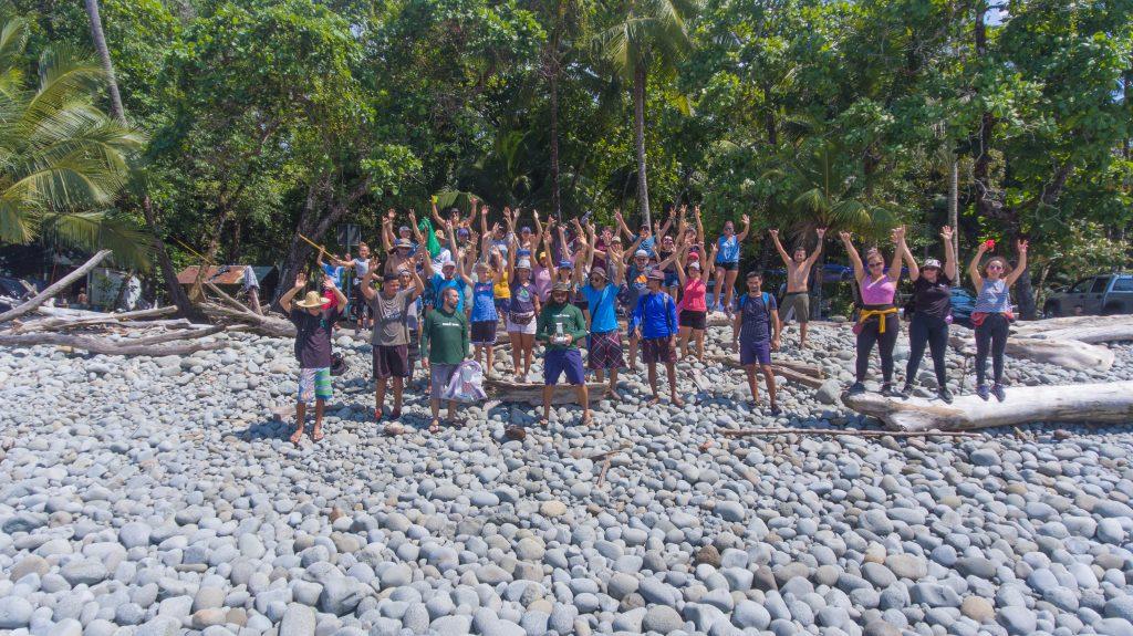Green Team beach cleanup - Matapalo