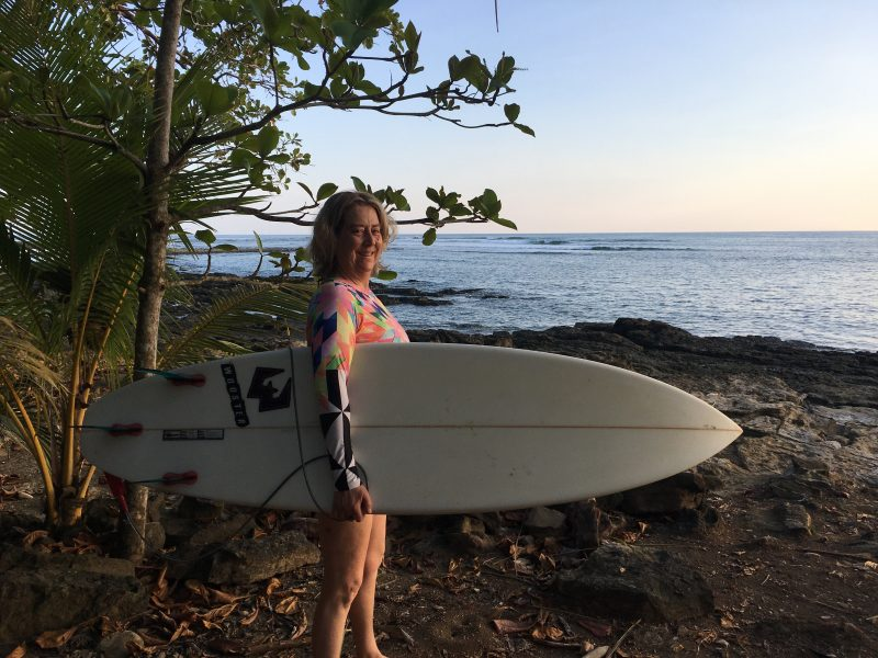 Surfing with friends near Dominical