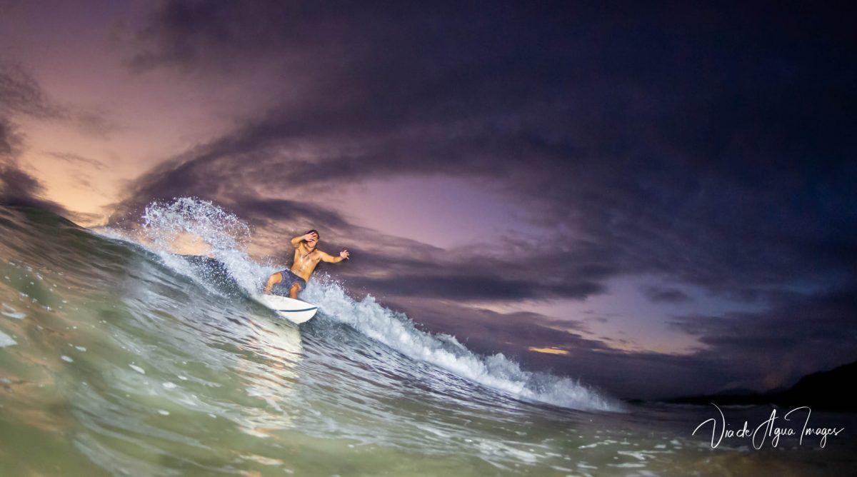 Night surfing in Dominical Costa Rica by Via de Agua
